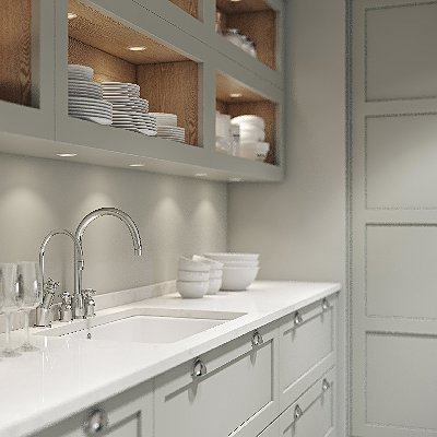 Galley kitchen in fenix and deda stained oak natural brushed haywooddesign 400x400shaker layon cgi ci ver01 view060006